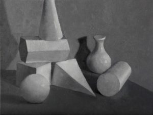 Geometric Shape Painting Study