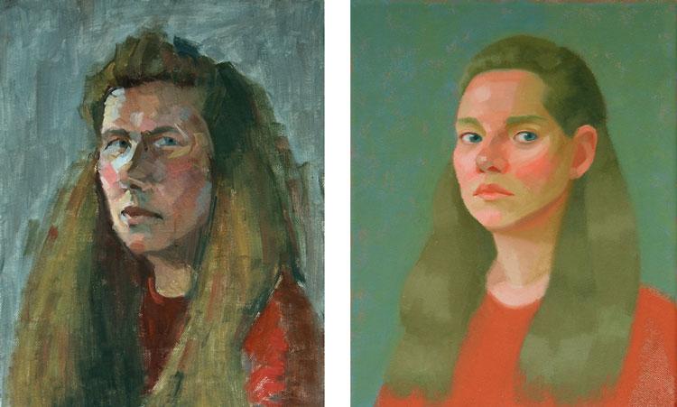autoportrait peinture clinton
